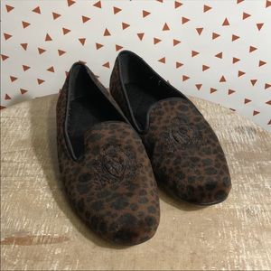 Vintage Victoria Secret leopard house shoes